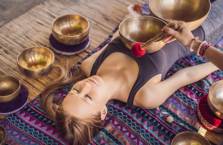 Klangschalen Ausbildung Massage Therapie